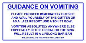 1 of Laminate 300mmW x 150mmH - Vomit Urinal