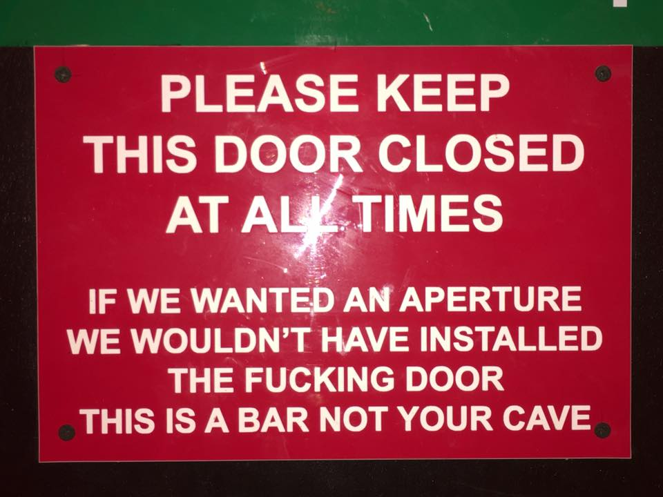 Sign in Dive Bar